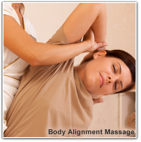 Image of a woman receiving a Body Alignment Massage at Body Solutions