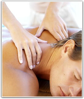 Image of a man receiving a relaxing Full Body Massage at Body Solutions in Vorhees, NJ