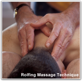 Image of a male massage client receiving Rolfing Therapy