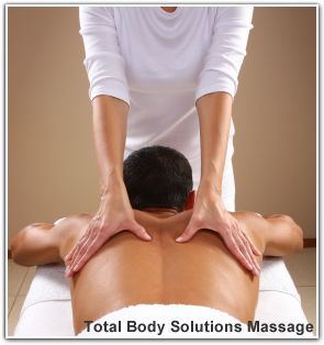 Image of a male client receiving the Total Body Solutions Massage